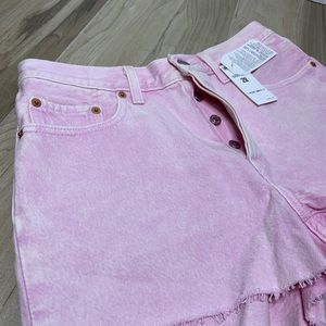Levi's Shorts - NWT Levi's Straight Leg Button Fly Pink Shorts